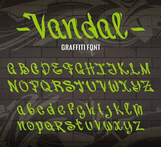 vandaal graffiti lettertype