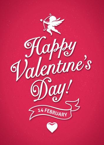 Valentinstag Poster vektor