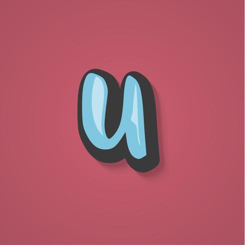 Personnage de bande dessinée à partir d'un jeu de polices, illustration vectorielle