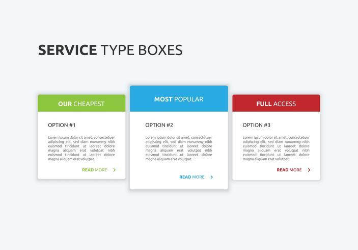 Modern website design for business, vector illustration