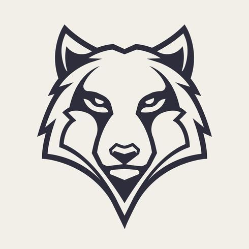 Lobo mascota vector icono
