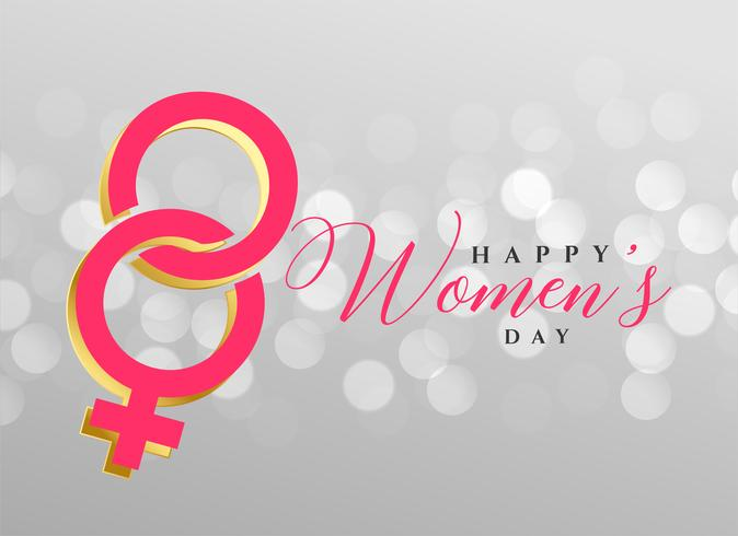 stylish happy women's day background design