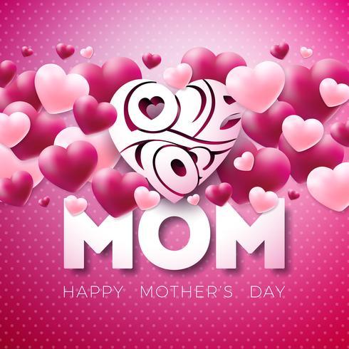 Conception de cartes de voeux bonne fête des mères