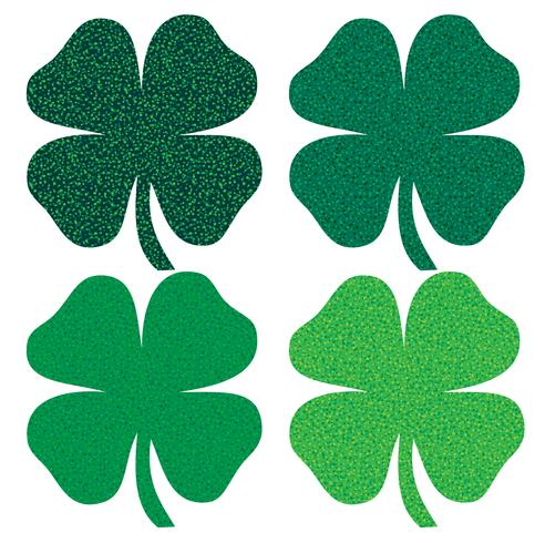 Saint Patrick's Day glitter shamrocks