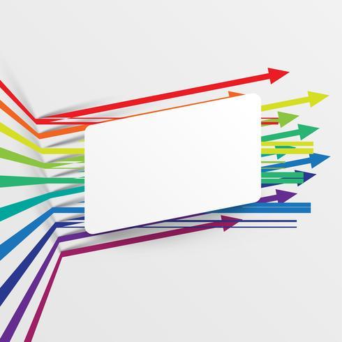 Färgrik och ren mall med pilar, vektor illustration
