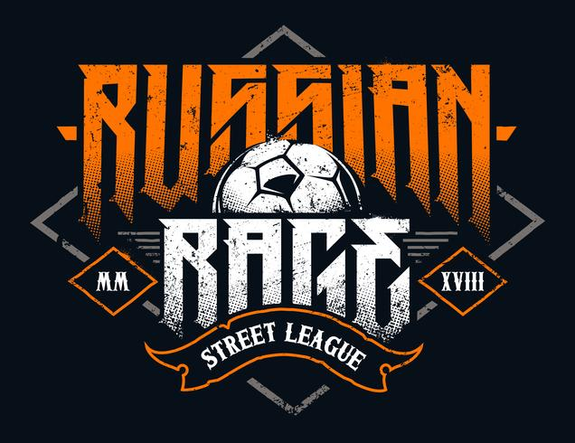 Russian Rage Typography vector