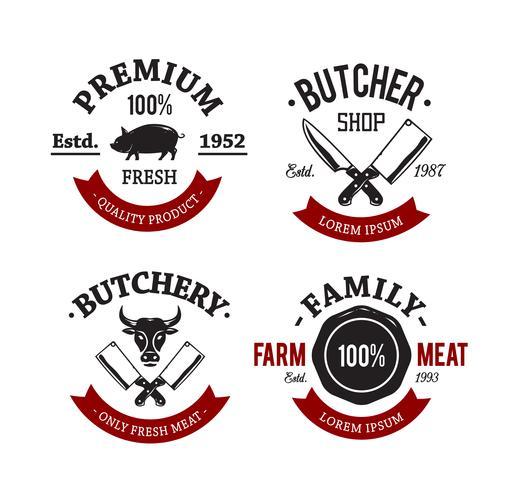 emblemas de açougue vintage
