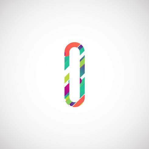 Colorful character from a typeset, vector illustration