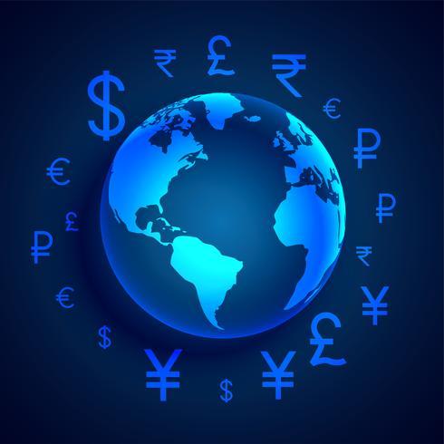 design de conceito global de transferência de dinheiro digital