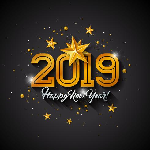 Happy New Year 2019 Illustration vector