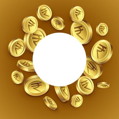 Indiase rupee gouden munten achtergrond