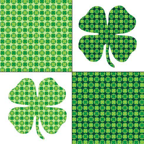 Padrões de trevo verde do dia de São Patrício