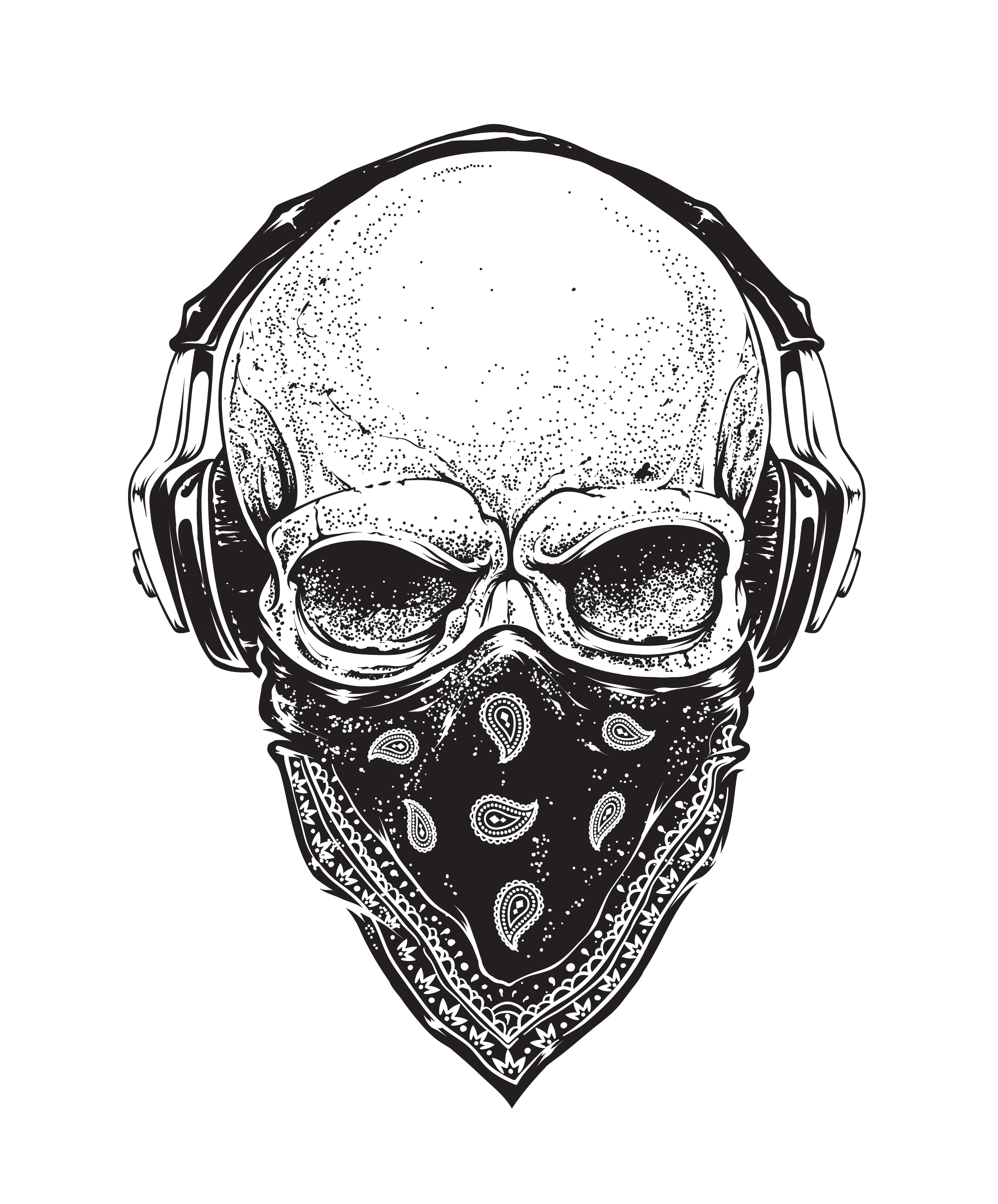 Skull With Headphones 334694