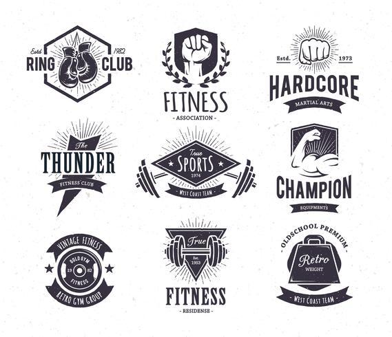 Retro fitness-emblemen