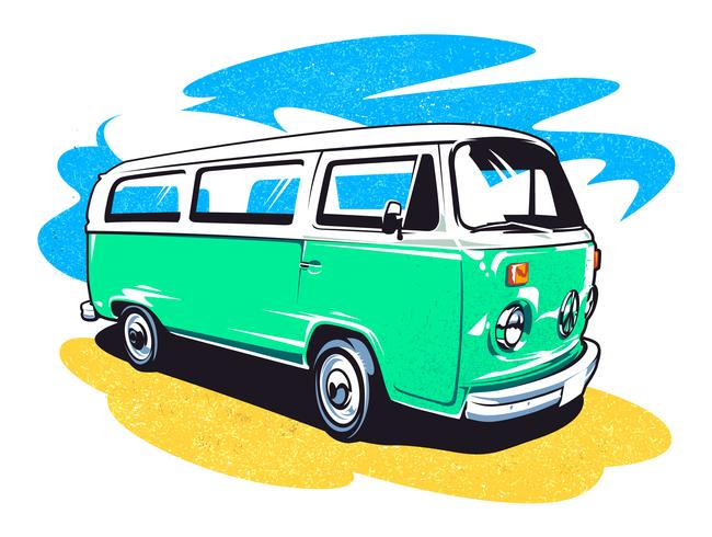 Hippie-Auto-Vektorkunst