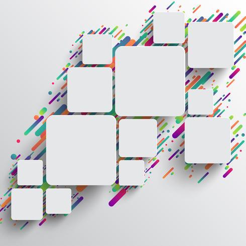 Dynamische en kleurrijke sjabloon voor reclame, vectorillustratie