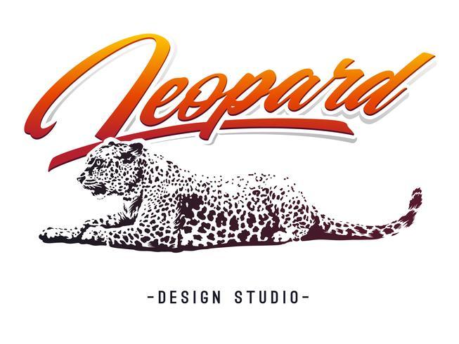 Leopard Vector Design