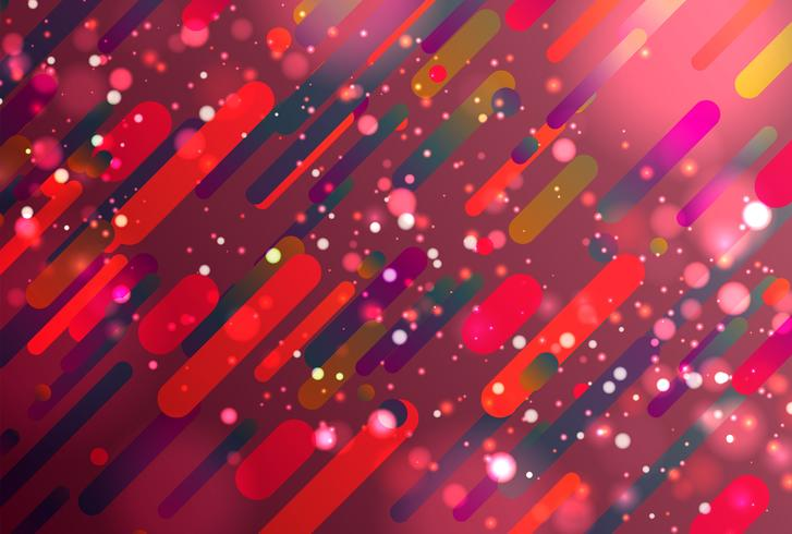 Colorful abstract background with balls and lines for advertising, vector illustration