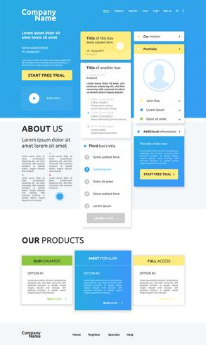 Design moderno site de negócios, ilustração vetorial