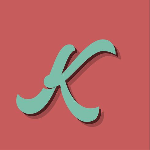 Retro karaktär från ett fontset, vektor illustration