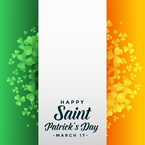 heureux saint patricks day background avec le drapeau de l'Irlande