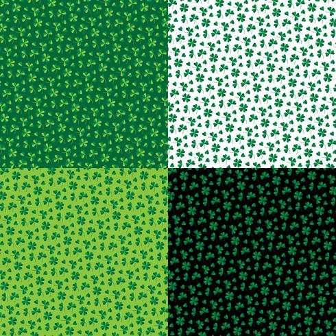 Saint Patrick's Day small shamrock patterns