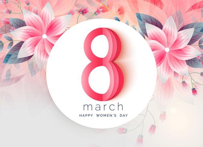 lovely greeting design of women's day