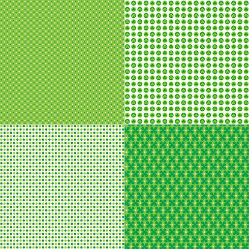 Saint Patricks day polka dot patterns