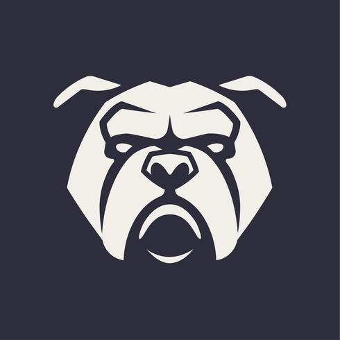 Bulldog Mascot Vector Icon