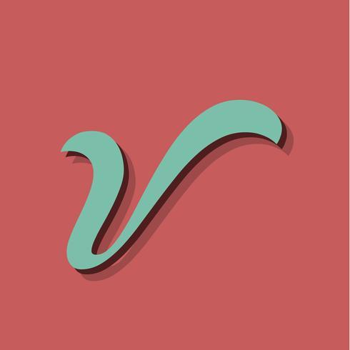 Personagem retrô de um fontset, ilustração vetorial