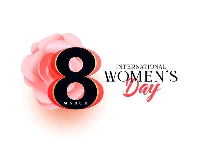 beautiful women's day greeting design