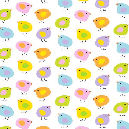 patrón de fondo de Pascua pollitos bebé pollitos