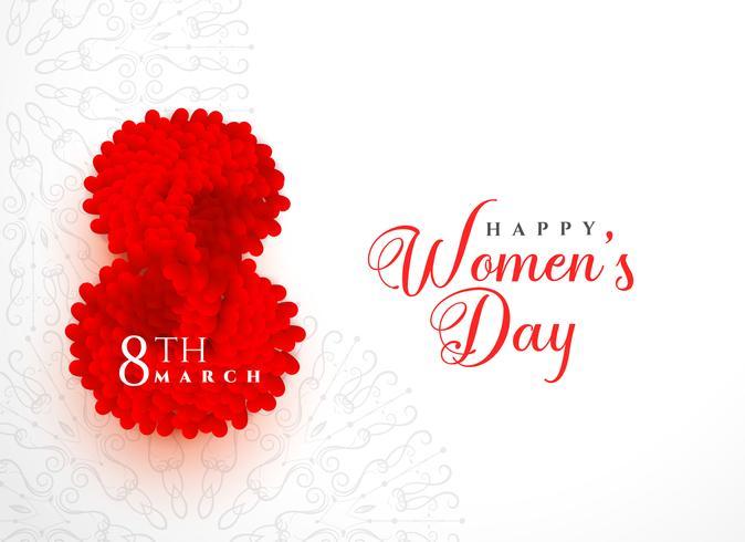 creative happy women's day background design