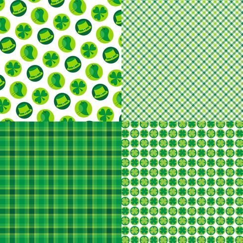 Saint Patrick's Day plaids och mönster