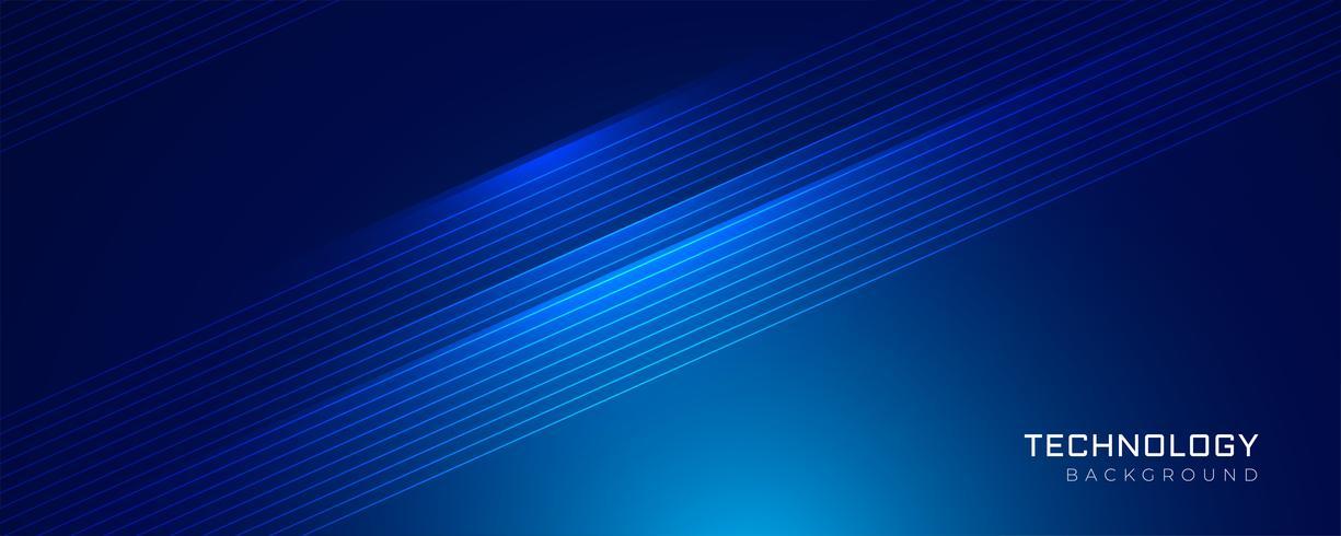 blaue Technologie glühende Linien Hintergrund