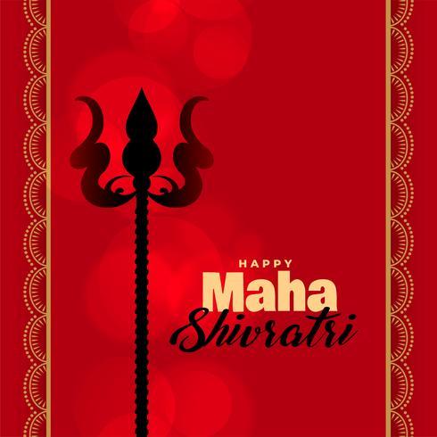 Lord Shiva Trishul auf rotem Hintergrund