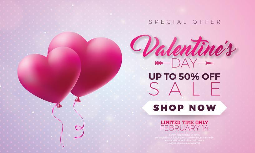 Valentinstag Verkauf Design vektor