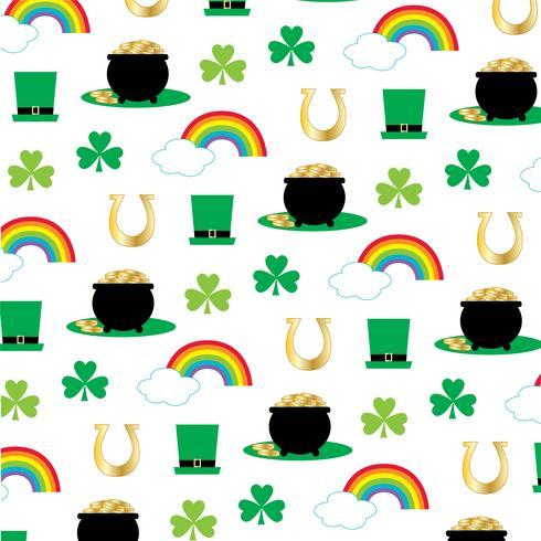 Saint Patricks' day pot of gold rainbow pattern