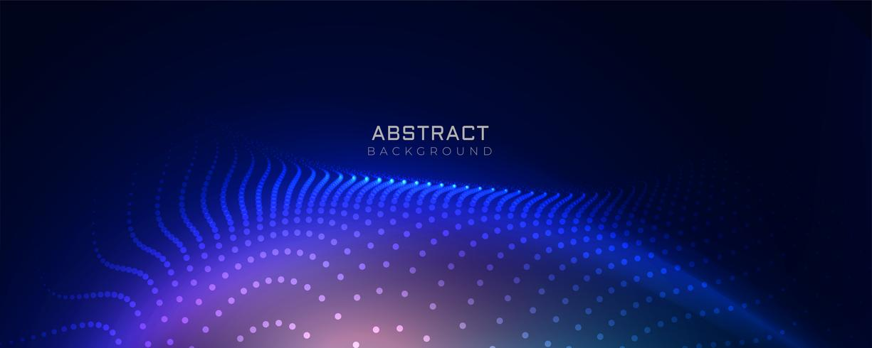 stylish blue technology particles background
