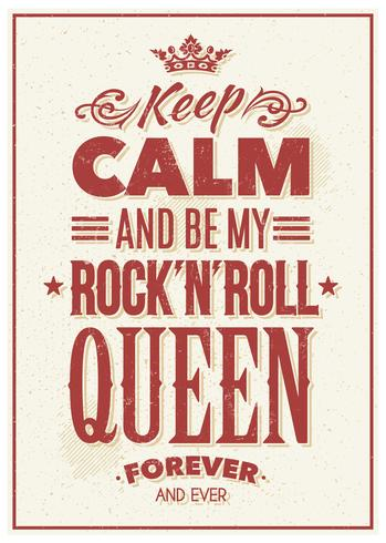 rock queen typografi