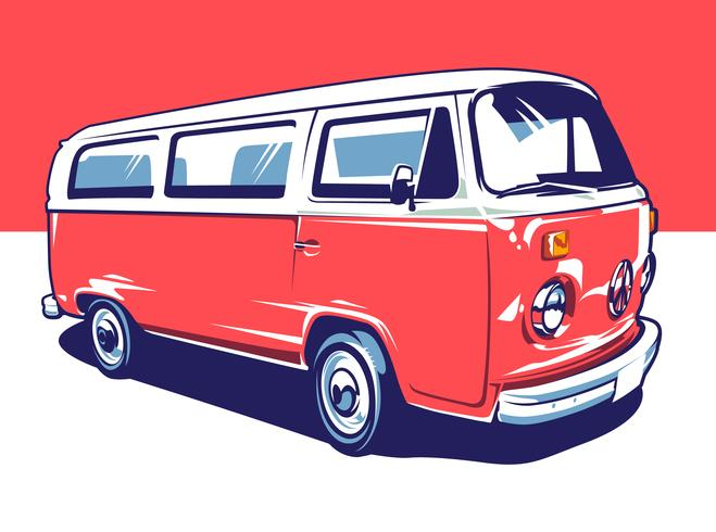 Hippie Car Vectorkunst vector
