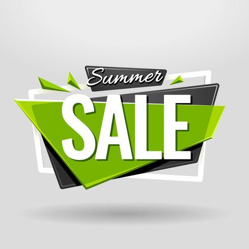 Banner geométrico de venda de verão