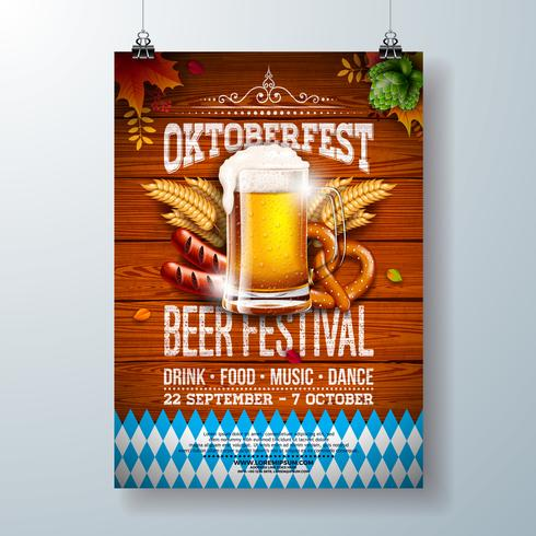 Ilustración del cartel de la fiesta Oktoberfest