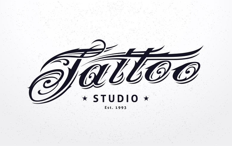 tatuering bokstäver