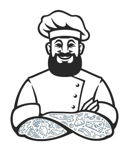 Hipster Chef-kok Vector Icon