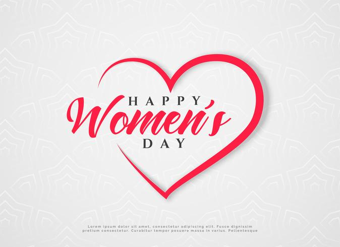 feliz día de la mujer corazones saludo