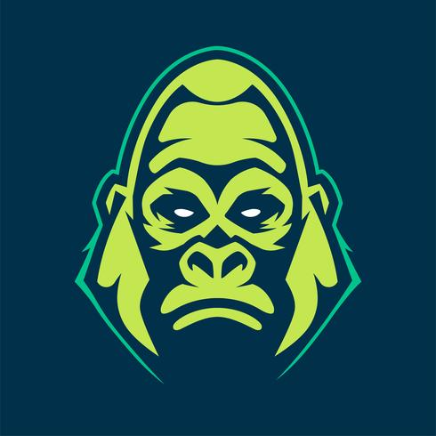 ícone de vetor de mascote de gorila