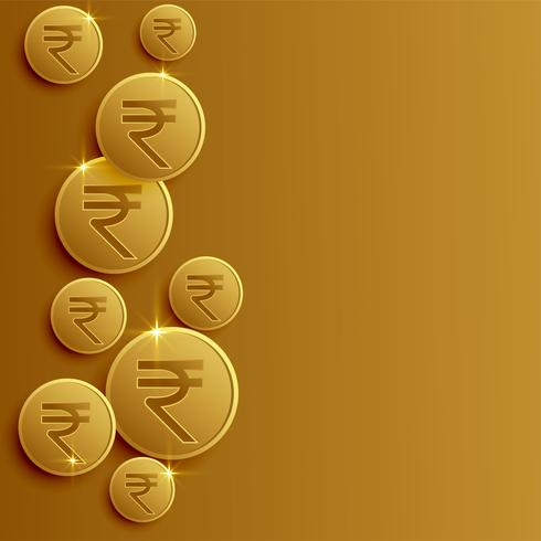 Indiase roepie munten achtergrond met tekst ruimte