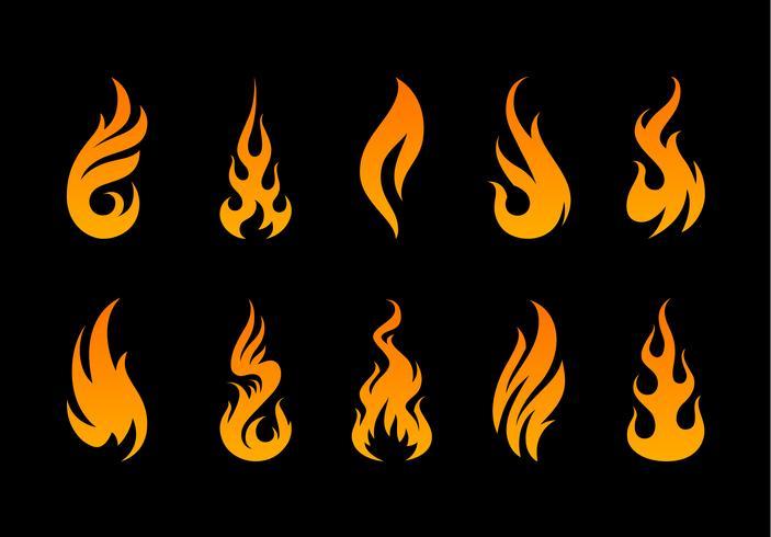 Formes de flammes vectorielles
