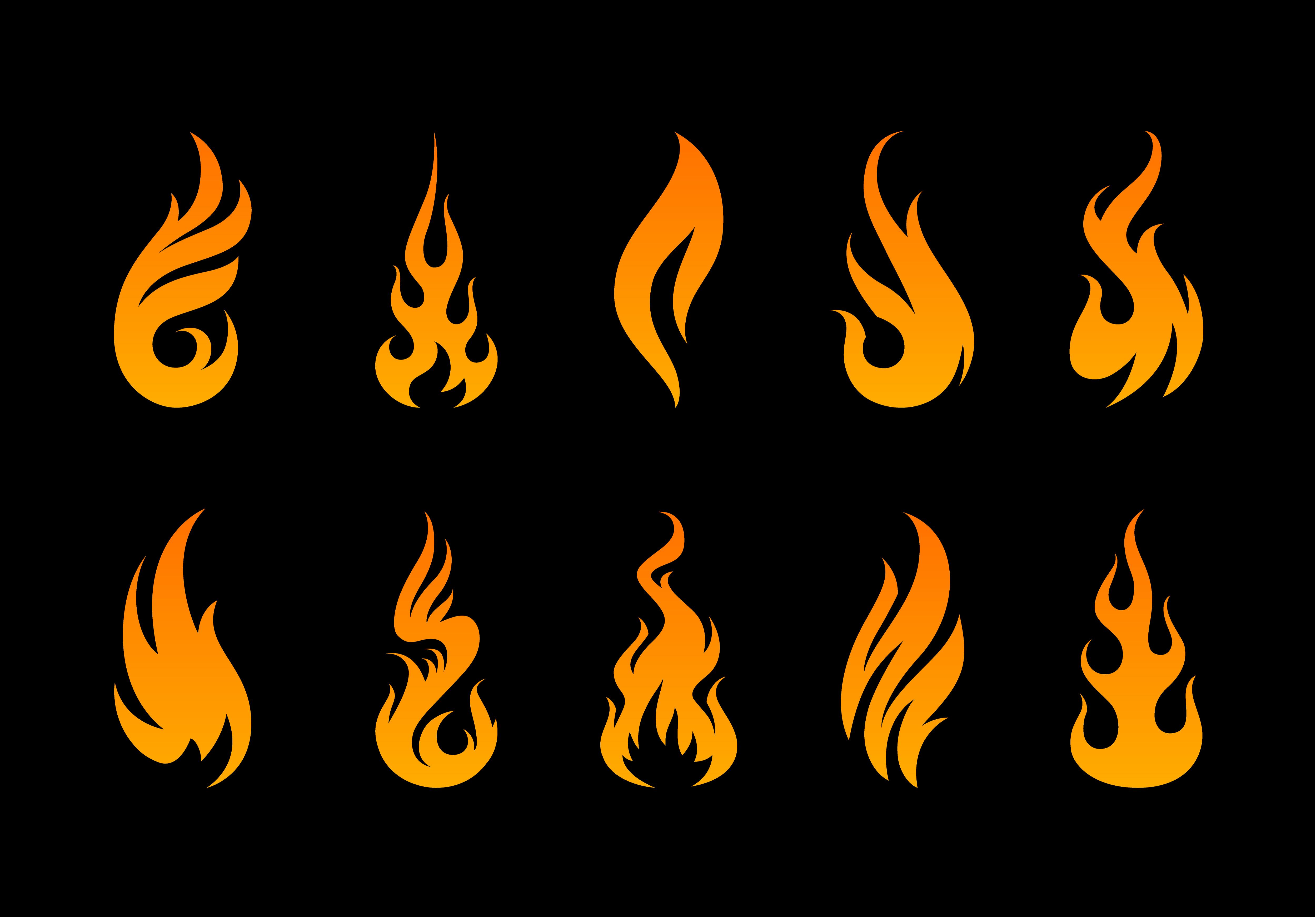 Vector Flame Shapes Download Free Vectors Clipart